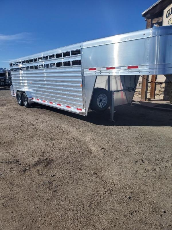 2020 Exiss Trailers 24ft Stock Trailer Livestock Trailer