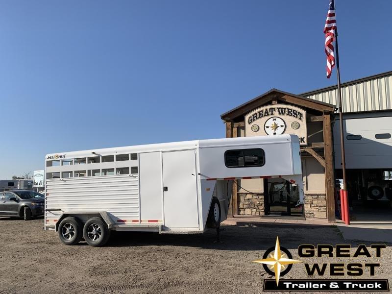 2017 Trails West Manufacturing 16 Hotshot Stock Combo Livestock Trailer