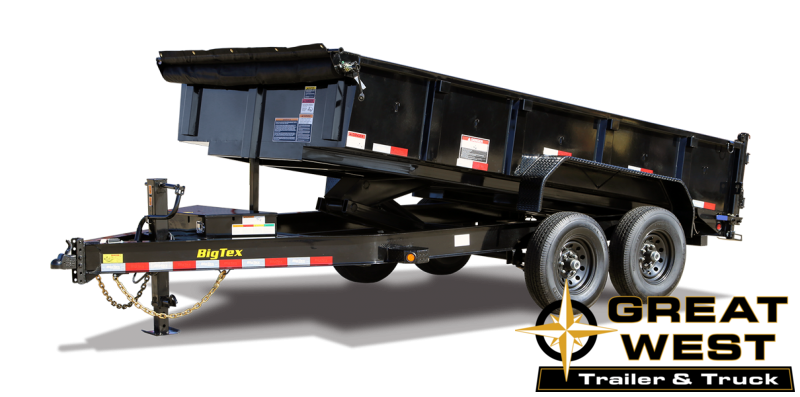 2021 Big Tex Trailers 14LP-14 Dump Trailer w/Ramps