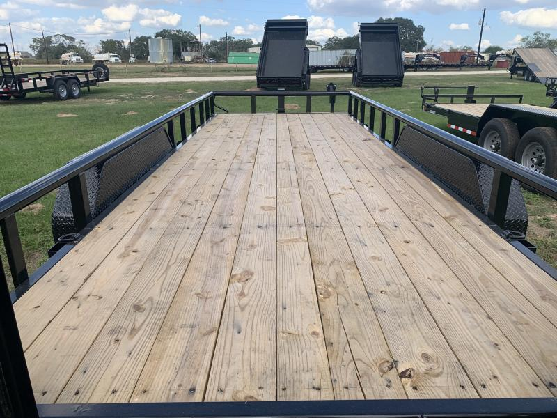 2021 Load Trail 83X20 14K PIPE RAILS STAND UP RAMPS