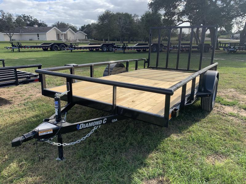 2021 Diamond C Trailers 77X12 SINGLE AXLE UTILITY