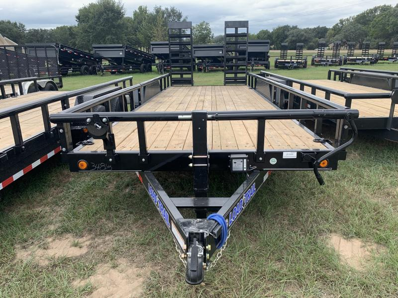 2022 Load Trail XS8320 83X20 LOWBOY STAND UP RAMPS W/ REMOVEABLE