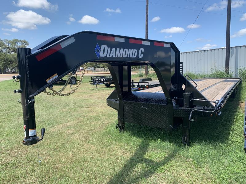 2020 Diamond C Trailers 40' FLATBED MAX RAMPS 25.9K 14PLY