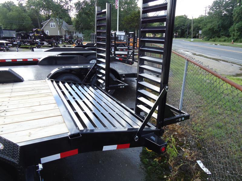 2022 Big Tex Trailers EH 7X18 16ET 15+3BK 5KR KNEE BLACK Equipment Trailer
