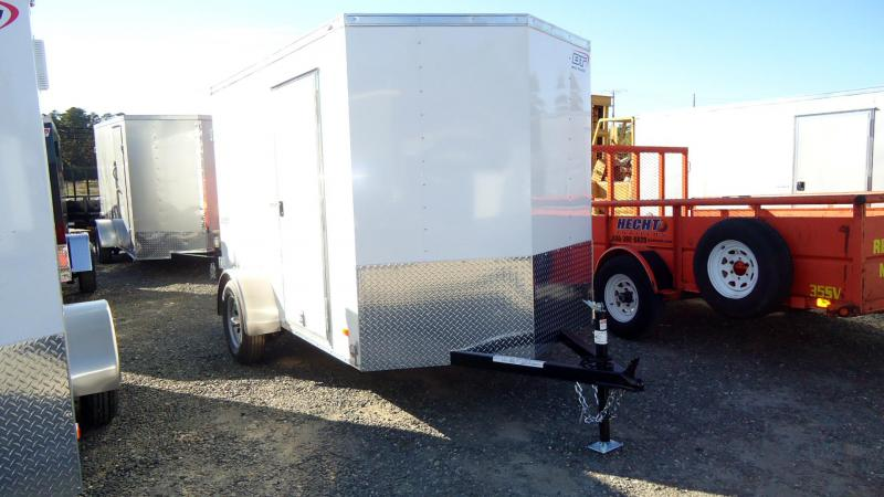 2022 Bravo Trailers 6X10 SC SA 18V APP WHITE Enclosed Cargo Trailer