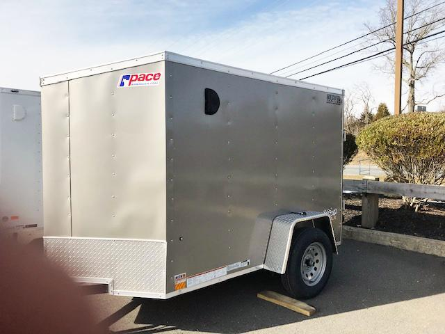 2022 Pace American 5X8 OBDLX SI2 V RAMP SD PEWTER Enclosed Cargo Trailer