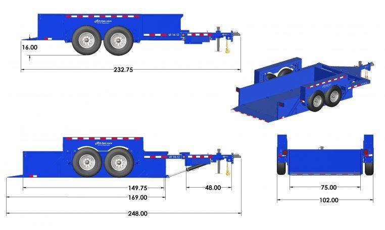2020 Air Tow UT 6X14 T14-12 BLUE Utility Trailer