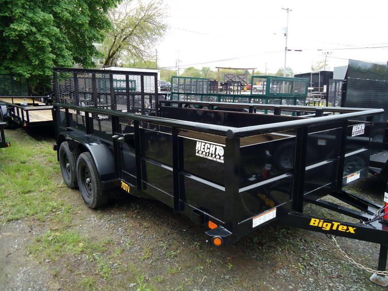 2022 Big Tex Trailers UT 7X16 70TV 16BK4RG BLACK Utility Trailer