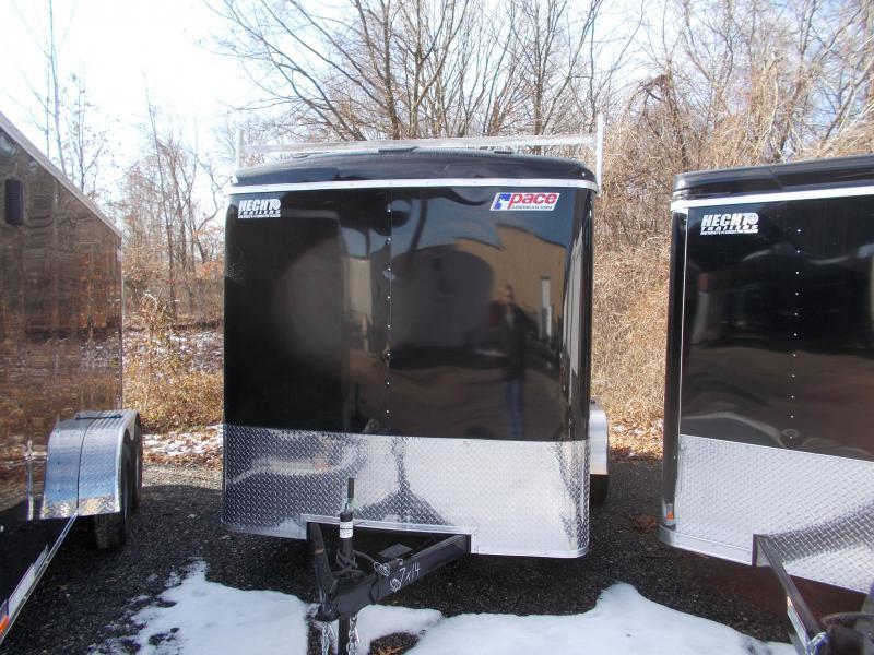 "2019 Pace American 7X14 JT TE2 16"" OC 6""X LDR RCK RAMP SVNTS BLACK Enclosed Cargo Trailer"