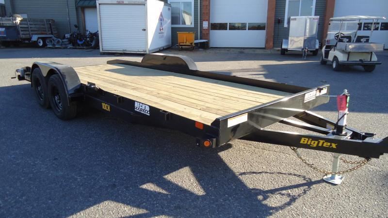 2021 Big Tex Trailers CH 7X16 10CH 16BK DT BLACK Car / Racing Trailer