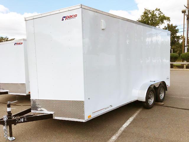 "2022 Pace American 7X16 OBDLX TE2 V 12""X E-TRACK 16"" OC RAMP SVNT Enclosed Cargo Trailer"