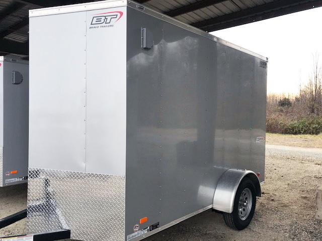"2021 Bravo Trailers 6X10 SC SA V 6""X LD RAMP APP SILVER Enclosed Cargo Trailer"