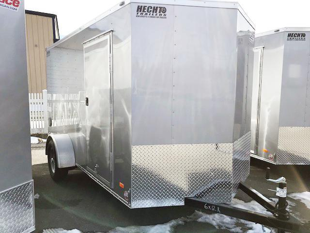 2021 Bravo Trailers 6X12 SC SA V LD RAMP APP SILVER Enclosed Cargo Trailer