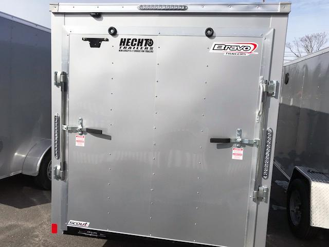2021 Bravo Trailers 6X12 SC SA V LD RAMP APP SILVER Enclosed Cargo Trailer