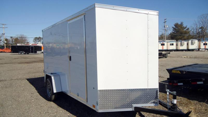 2022 Pace American 6X12 OBDLX SI2 V SVNT WHITE Enclosed Cargo Trailer