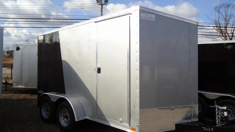 "2022 Pace American 7X12 OBDLX TE2 V 6""X RAMP SVNT SILVER & BLACK Enclosed Cargo Trailer"