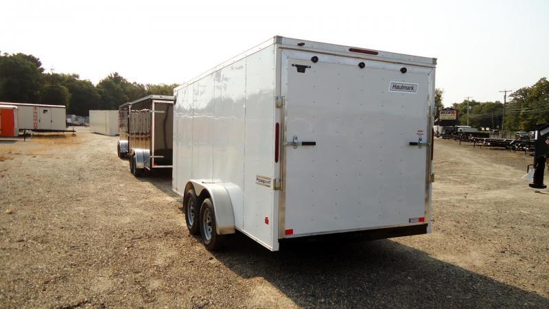 2022 Haulmark 7X16 PPD T2 RAMP WHITE Enclosed Cargo Trailer