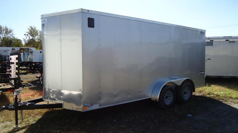 2019 Haulmark 7X16 PP T2D SILVER Enclosed Cargo Trailer