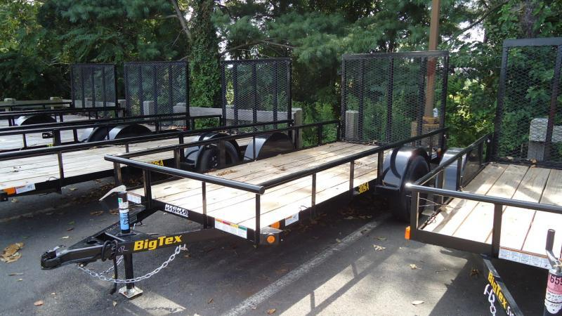 2021 Big Tex Trailers UT 5X12 30SA 12BK 4RG BLACK Utility Trailer