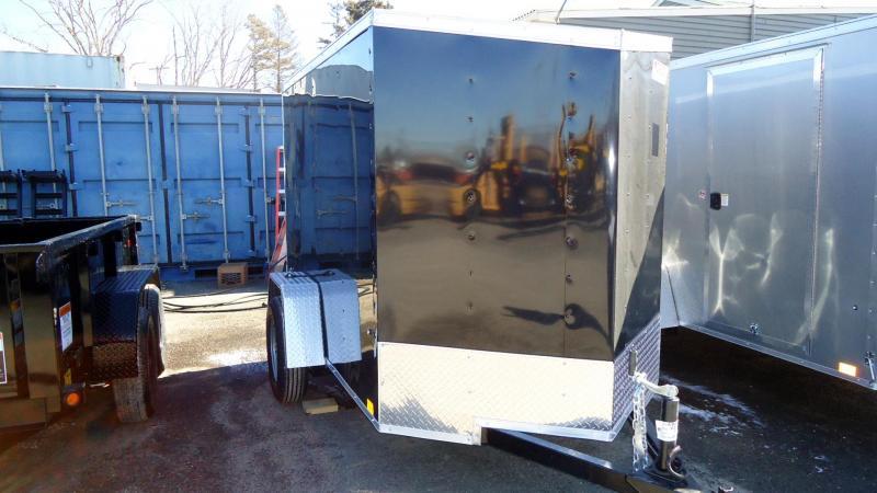 2022 Pace American 5X8 OBDLX SI2 V SVNT BLACK Enclosed Cargo Trailer