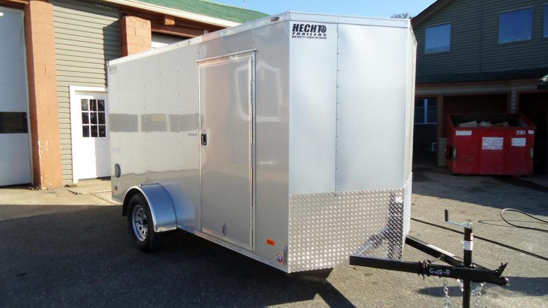 2021 Bravo Trailers 6X12 SC SA V RAMP SILVER Enclosed Cargo Trailer