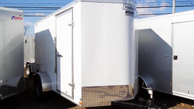 2021 Haulmark 6X10 PP S2-D EB RAMP WHITE Enclosed Cargo Trailer