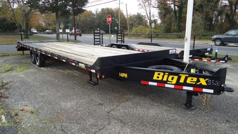 2020 Big Tex Trailers EH 8.5X30 14PH 25BK +5MR BLACK Equipment Trailer