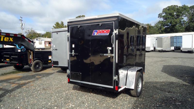 2022 Pace American 5X8 OBDLX SI2 V RAMP SVNT BLACK Enclosed Cargo Trailer