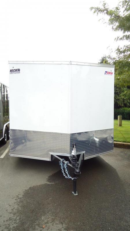 2020 Pace American 8.5X18 OBDLX TE2 30V 18XT RAMP+ SVNT WHITE Cargo Trailer