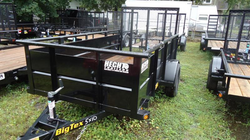 2022 Big Tex Trailers UT 5X10 30SV 10BK4RG BLACK Utility Trailer