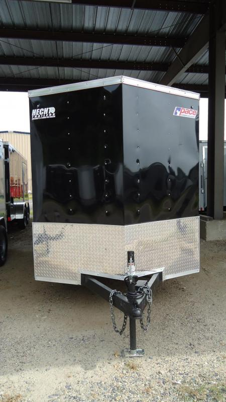 2020 Pace American 6X12 JV TE2 18W 2LADRCK SVNTS SPARE BLACK Enclosed Cargo Trailer