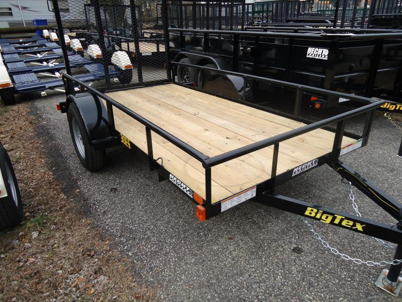 2021 Big Tex Trailers UT 5X10 30ES 10BK 4RG BLACK Utility Trailer
