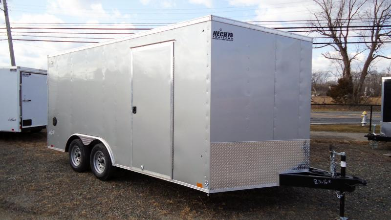 "2022 Pace American 8.5X16 OBDLX TE2 V RAMP+ 12"" TNG DRNG SILVER Enclosed Cargo Trailer"