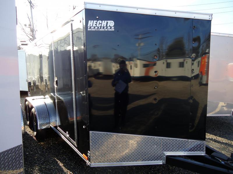 "2019 Pace American 7X14 OBDLX TE2 30""VS 12""TUNG RAMP SVNTS BLACK Enclosed Cargo Trailer"