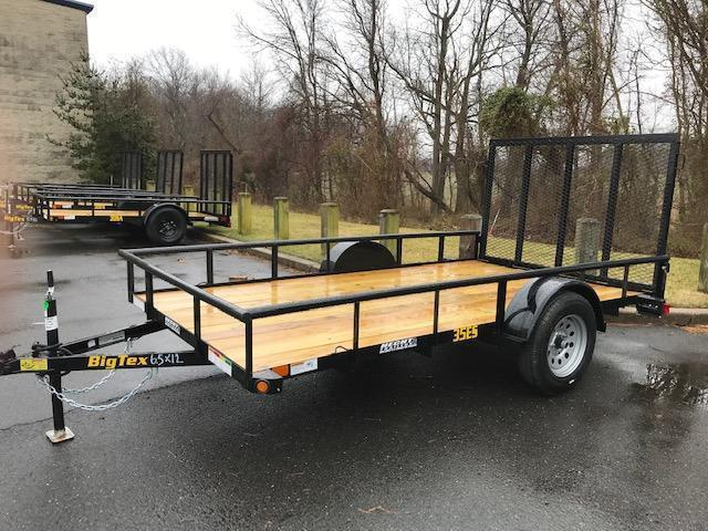 2021 Big Tex Trailers UT 6.5X12 35ES 12BK 4RG BLACK Utility Trailer