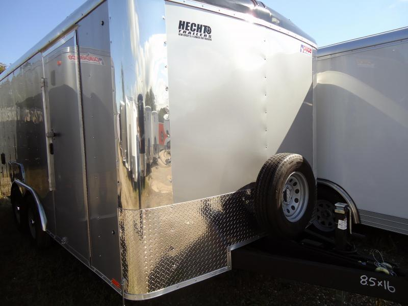 "2021 Pace American 8.5X16 CLS TE3 18"" XA RAMP SILVER Enclosed Cargo Trailer"