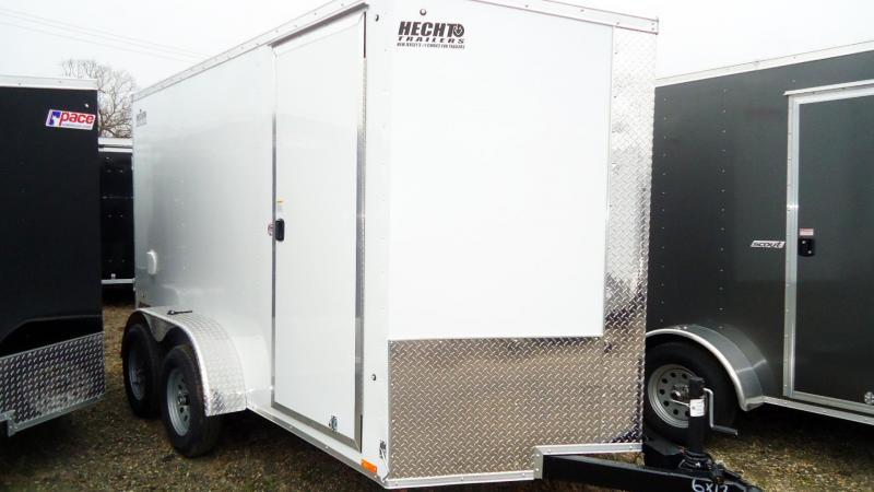2021 Pace American 6X12 JVSE TE2 24VS 6X RAMP SVNT WHITE Enclosed Cargo Trailer
