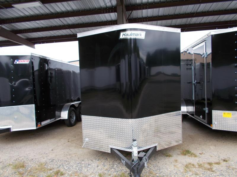 2020 Haulmark 6X10 TSV S2 RAMP EBRK BLACK Enclosed Cargo Trailer