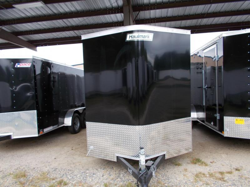 2020 Haulmark 6X10 TSV S2 RAMP EBRK BLACK Enclosed Cargo Trailer