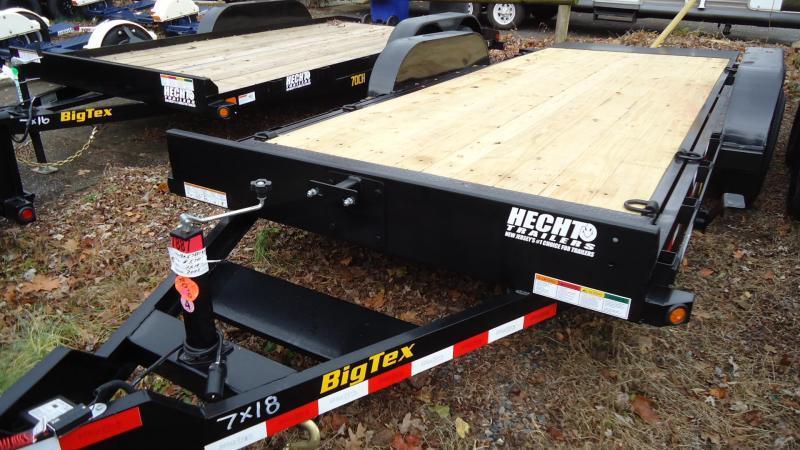 2021 Big Tex Trailers EH 7X18 10FT 18BK FULL TILT BLACK Equipment Trailer
