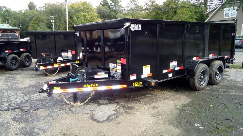 2022 Big Tex Trailers DT 7X16 16LP 16BK 6SIRPD P4 BLACK Dump Trailer