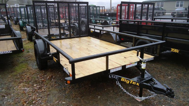 2021 Big Tex Trailers UT 6.5X10 35SA 10BK4RG BLACK Utility Trailer
