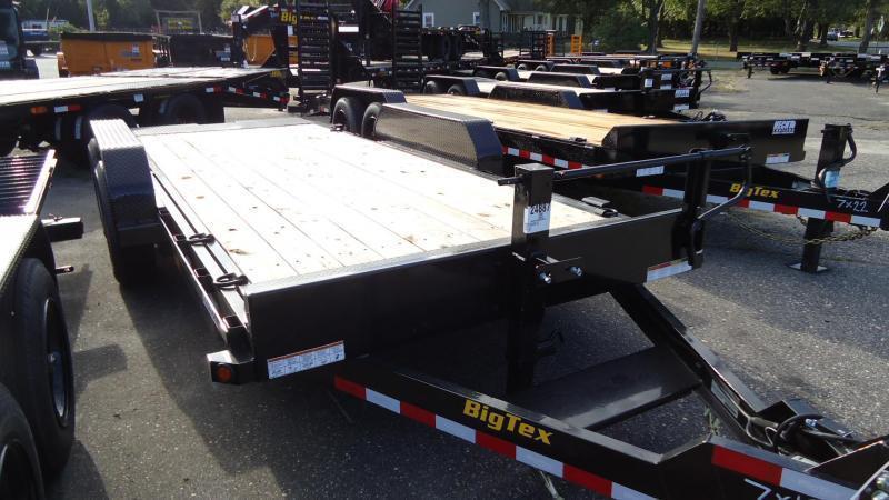 2022 Big Tex Trailers EH 7X18 14FT 18BK FULL TILT BLACK Equipment Trailer