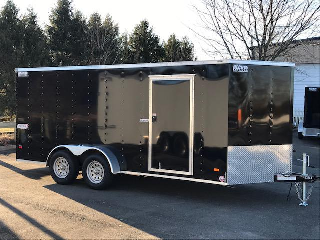 2021 Bravo Trailers 7X16 SC TA2 V MD RAMP APP BLACK Enclosed Cargo Trailer