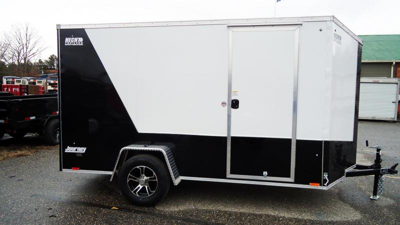 2021 Pace American 6X12 JVSE SI2 24VS 6X RAMP WHITE & BLACK Enclosed Cargo Trailer
