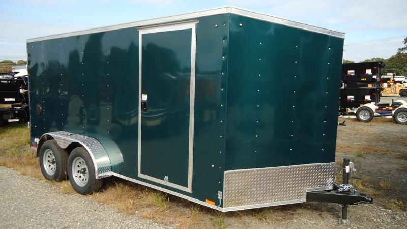 2021 Pace American 7X14 OBDLX TE2 30VS RAMP SVNT GREEN Enclosed Cargo Trailer