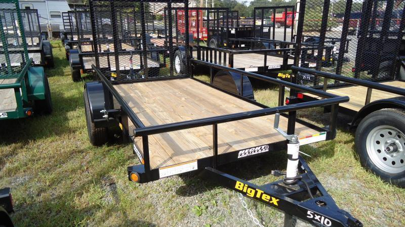 2021 Big Tex Trailers UT 5X10 30SA 10BK4RG BLACK Utility Trailer