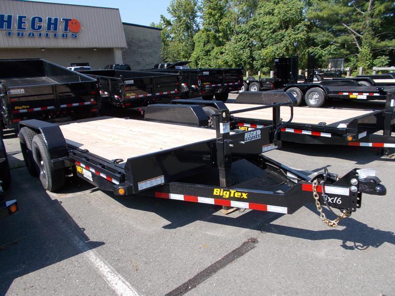 2022 Big Tex Trailers EH 7X16 14FT 16BK FULL TILT BLACK Equipment Trailer