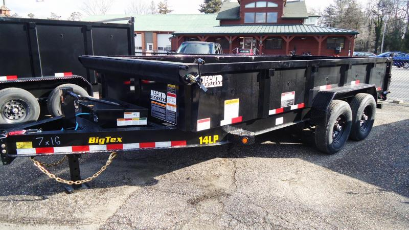 2021 Big Tex Trailers DT 7X16 14LP 16BK 6SIRPD BLACK Dump Trailer