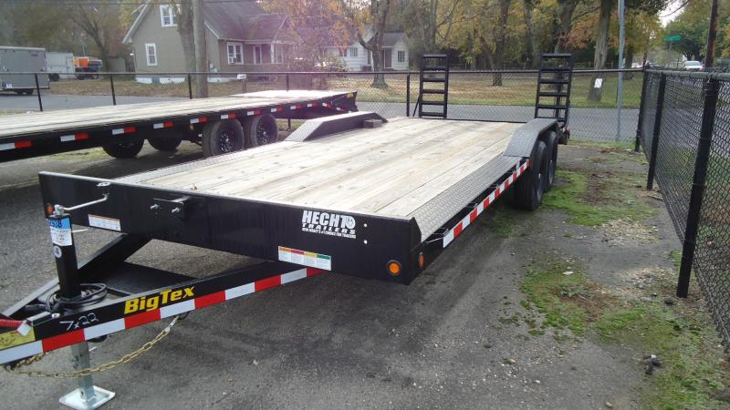 2021 Big Tex Trailers EH 7X22 10DF 22BK 4 FT KNEE BLACK Car / Racing Trailer